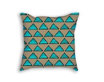 Cover + Insert   Neon Tribal Pillow   18x18