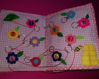 Personalized Quiet Book, Busy Book, Activity, Montessori, Fabric Book,