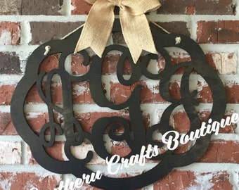 Monogram Wooden Door Hanger