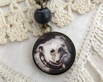 Bulldog pendant necklace