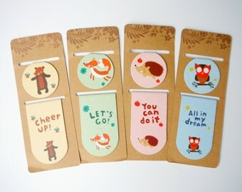 A Set of 2 Animal Magnetic Page Markers