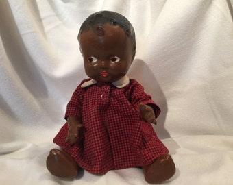 SALE...Black Bent-Limb Baby Doll