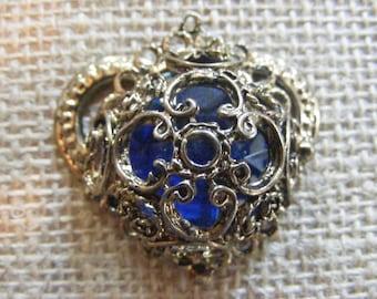 Victorian Style Blue Jewel Pendant