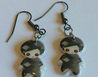 Cute goth boy earrings
