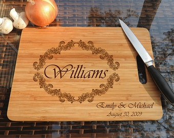 kikb520 Personalized Cutting Board Wood wooden wedding gift anniversary date name family
