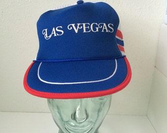 Vintage Las Vegas Americana Trucker Hat 1980's