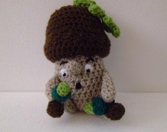 Crocheted Acorn doll