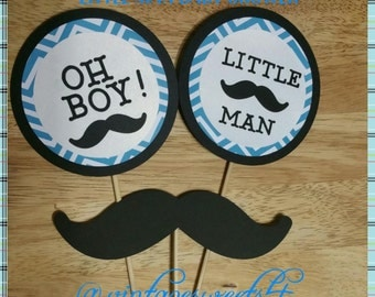Little Man Center Piece Sticks