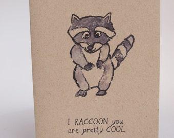 Greeting Card - Raccoon