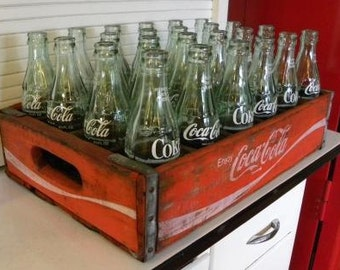 Coca Cola Wooden Crate & Bottles - SKU 1509