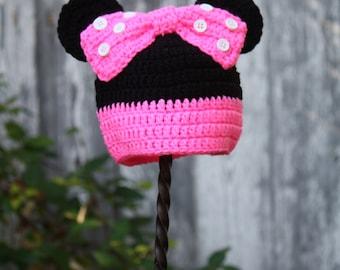 Minnie Mouse Beanie - 3-6mos