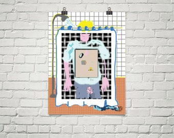 Shower Curtain Poster