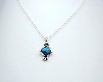 Ocean Blue Mystic Gem Necklace