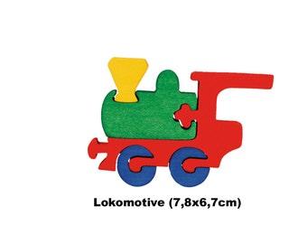 Mini Puzzle Locomotive / Handmade / Wooden Toys / Vehicles / Transportation / Waldorf / Montessori