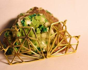 """Brass Earrings """"Diamond"""""""