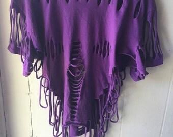 Totally 80s tearwear purple tee
