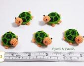 Uncinetto amigurumi tartarughe verde - Tartarughe amigurumi uncinetto cotone verde