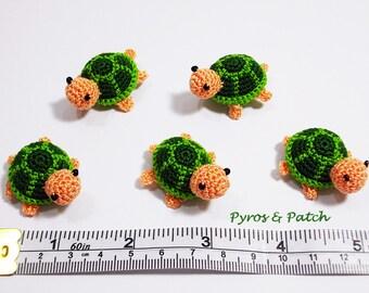 Turtles amigurumi crochet green - Tartarughe amigurumi uncinetto cotone verde