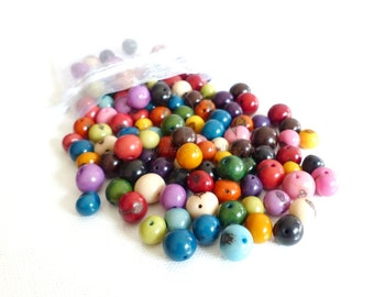 Asai - Multicolored assortment of asai beads - 50/100/500/1000/5000