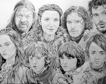 Family Stark Games of Thrones
