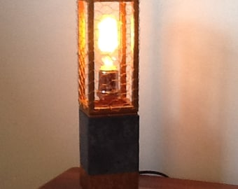 Concrete & Wire Lamp - Copper