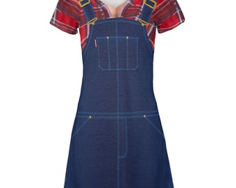 Halloween Lumberjill Costume All Over Juniors V-Neck Dress