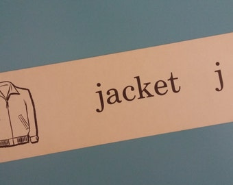 Vintage Illustrated Flash Card - jacket