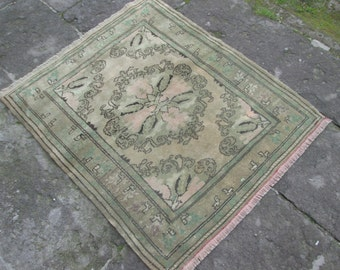 OLD Ousak Carpet Rug Pale Colors Madalyon Design