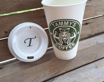 Nurses Personalized Starbucks cups with lid