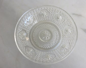 Antique pressed glass bowls with star motif-set of 2