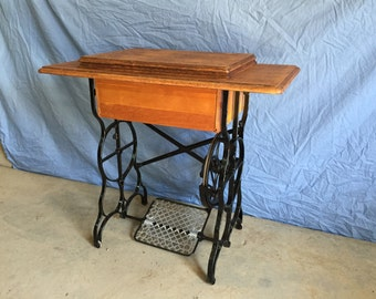 Vintage Repurposed Sewing Stand Table