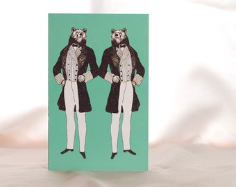 Old-Timey Animal Card- BEAR