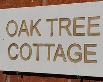 Natural Limestone house sign 400mm x 200mm