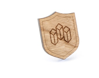 Crystal Lapel Pin, Wooden Pin, Wooden Lapel, Gift For Him or Her, Wedding Gifts, Groomsman Gifts, and Personalized