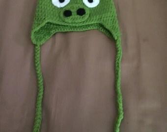 Mean piggy crochet hat