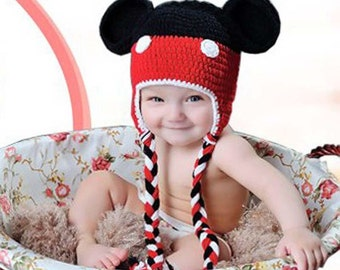 Minnie mouse crochet hat