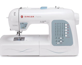 SINGER Futura XL-400 Computerized Sewing and Embroidery Machine with 18.5-by-...