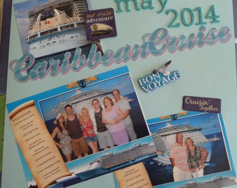 SCRAPBOOK CUSTOM VACATION album, Reduced price!!  12x12 Vacation Scrapbook, Great Gift