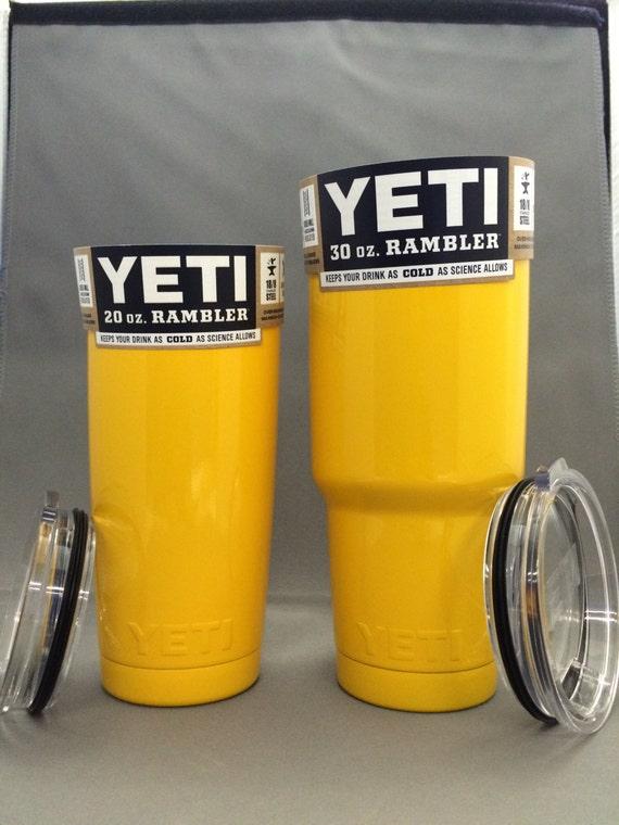 Yeti Rambler Powder Coated Orange Yellow