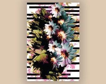 Botanical Elements Floral Print