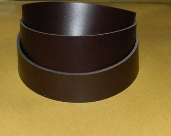 Leather strap, Dark Brown, 50 inches long, your choice of width.