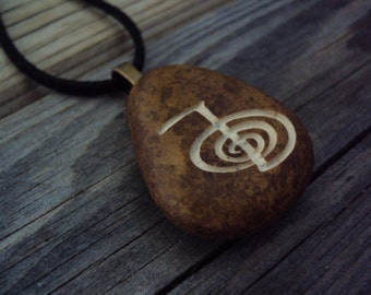 Cho Ku Rei pendant, Reiki engraved Necklace, Power Symbol Jewelry, Personalized Necklace, Unique Gift, Anniversary Gift, Promise Gift