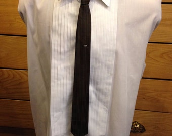 1960s Mod Skinny Tie With Crowns