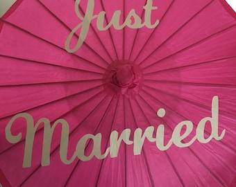 Wedding parasol - Paper parosol - monogrammed parasol - wedding umbrella