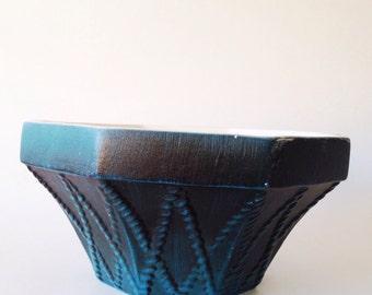 Haeger 834 octagonal planter | cachepot in teal