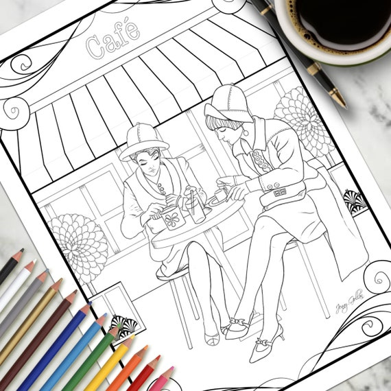 coloring pages french cafe - photo#4