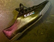 VINTAGE - L.A. Gear - 1991 Dead-Stock - NEW - Unworn - Black Leather W/ Black Rubber Sole - US Women's Size 6 - Perfect Condition - Rare