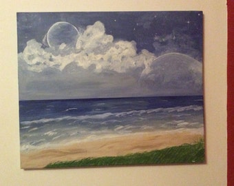 Planets In The Sky Original Acrylic Painting