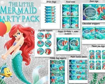 Little Mermaid Ariel party pack Birthday decorations