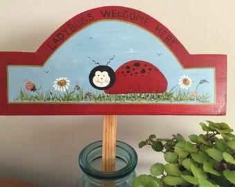 Ladybug Garden Sign